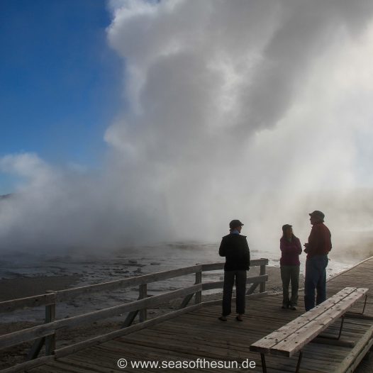 ...zum  Lower Geyser Basin...