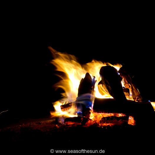 Unser letztes Lagerfeuer in Namibia